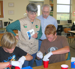 Docent Training on Water Testing in Lab