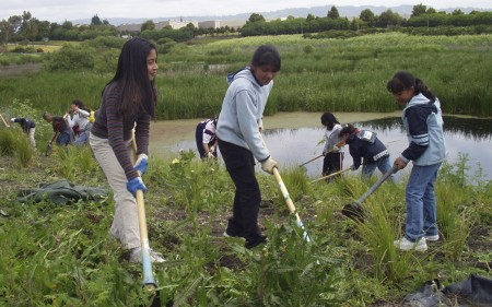 Neighbors and Rolling Hills Middle School students will help with the park project